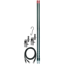 KW3DMK-B - Firestik 3' Dual Mirror Mount CB Antenna Kit (Black)