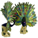 """1256437 - 9"""" Open Tail Peacock Statue"""