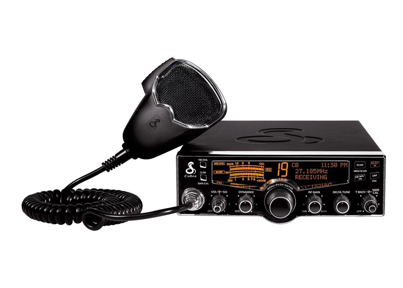 CB Radio Mount Bracket for Cobra 29 Kit Power Cord, knobs, Bracket, mic Clip