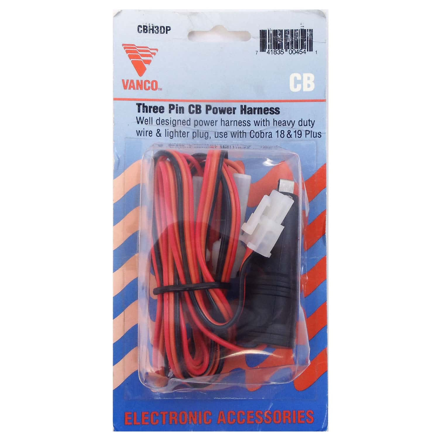 Phenomenal Cbh3Dp Cobra 19 Radio 3 Wire Fused Power Cord With Cigarette Wiring 101 Dicthateforg