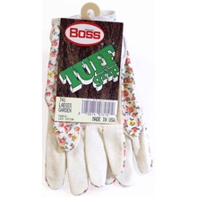741 - Boss Tuff Grip Ladies Cotton Garden Gloves With Textured Grip On Palm (1 Pair)