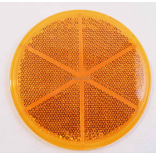 "049475A - Stratolite 3"" Round Amber Stick-On Reflector"