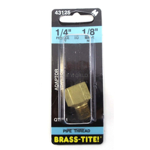 "07443125 - 1/4"" Female To 1/8"" Male Reducing Adapter (Brass)"
