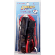 3602194 - 5' 16 Gauge Heavy Duty 2 Pin Power Cord