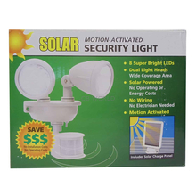 40218 - Maxsa Solar Motion Activated Dual Head 8 Led Security Light