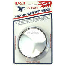 """050253 - Eagle Wedge Design 3-3/4"""" Round Stick-On Blind Spot Mirror"""