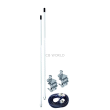 AUMM22-W - 2' White Dual Mirror Mount CB Antenna Kit