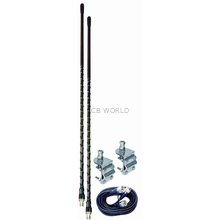 AUMM23-B - 3' Black Dual CB Antenna Kit