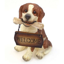 "1257203 - Resin ""Welcome"" Beagle Puppy Statue"