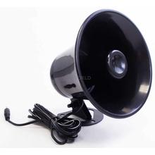 "AUPA5-B - 5-1/2"" Black Plastic PA Horn"