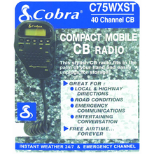 C75WX-DISPLAY - Cobra® C75WXST Counter Display W/Literature Pouch
