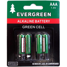 EBAAA - Evergreen 4 Pack AAA Cell Alkaline Battery