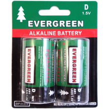 EBD - Evergreen 2 Pack D Cell Alkaline Battery