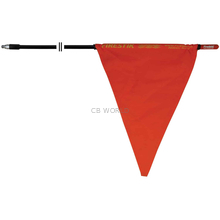 "F6-B - Firestik 6' 3/8""X24"" Thread Black Mast With Orange Safety Flag"