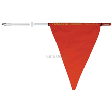 F5-W - Firestik 5' Thread White Mast With Orange Safety Flag