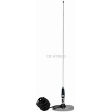 "JBC112-2400 - ProComm 2' VMT Whip Antenna W/3"" Chrome Magnet & 12' Coax"