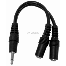 "KAC3BX - Kalibur 6"" 3.5mm Male Plug To Double Female (Y)"