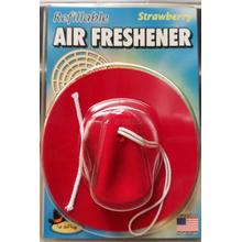 030403 - Red Cowboy Hat Strawberry Air Freshener