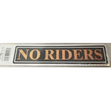04577 - No Rider Gold Truck Sign 12/Pk