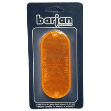 "049BP480A - Reflector Amber 4-3/8"" Oval 2/Card"