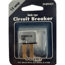 059BP91072 - Circuit Breaker 15 Amp Blade Carded