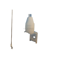 ASM177 - Antenna Specialists 4' Sailboat Antenna w/ 2' Coax