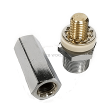 SM1F - Twinpoint Chrome Plated Antenna Stud W/ Long Hex Nut So239