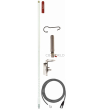 FG3648-W - Firestik 3' No Ground Plane Single Mirror Mount Antenna Kit- White