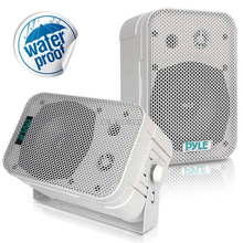 PYLE - PDWR40-W 5-1/4 € 400 Watt Indoor Or Outdoor Waterproof Boxed Speaker Pair - In White