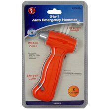AS003DL - 3 in 1 Car Emergency Hammer