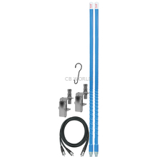 KW4DMK-BL - Firestik 4' Dual Mirror Mount CB Antenna Kit (Blue)