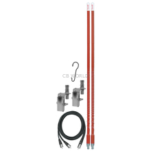 KW4DMK-R - Firestik 4' Dual Mirror Mount CB Antenna Kit (Red)