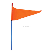 "SR6-BL - FIRESTIK 6' BLUE STROBE READY STICK (3/8""X24 BASE ) WITH FLAG"