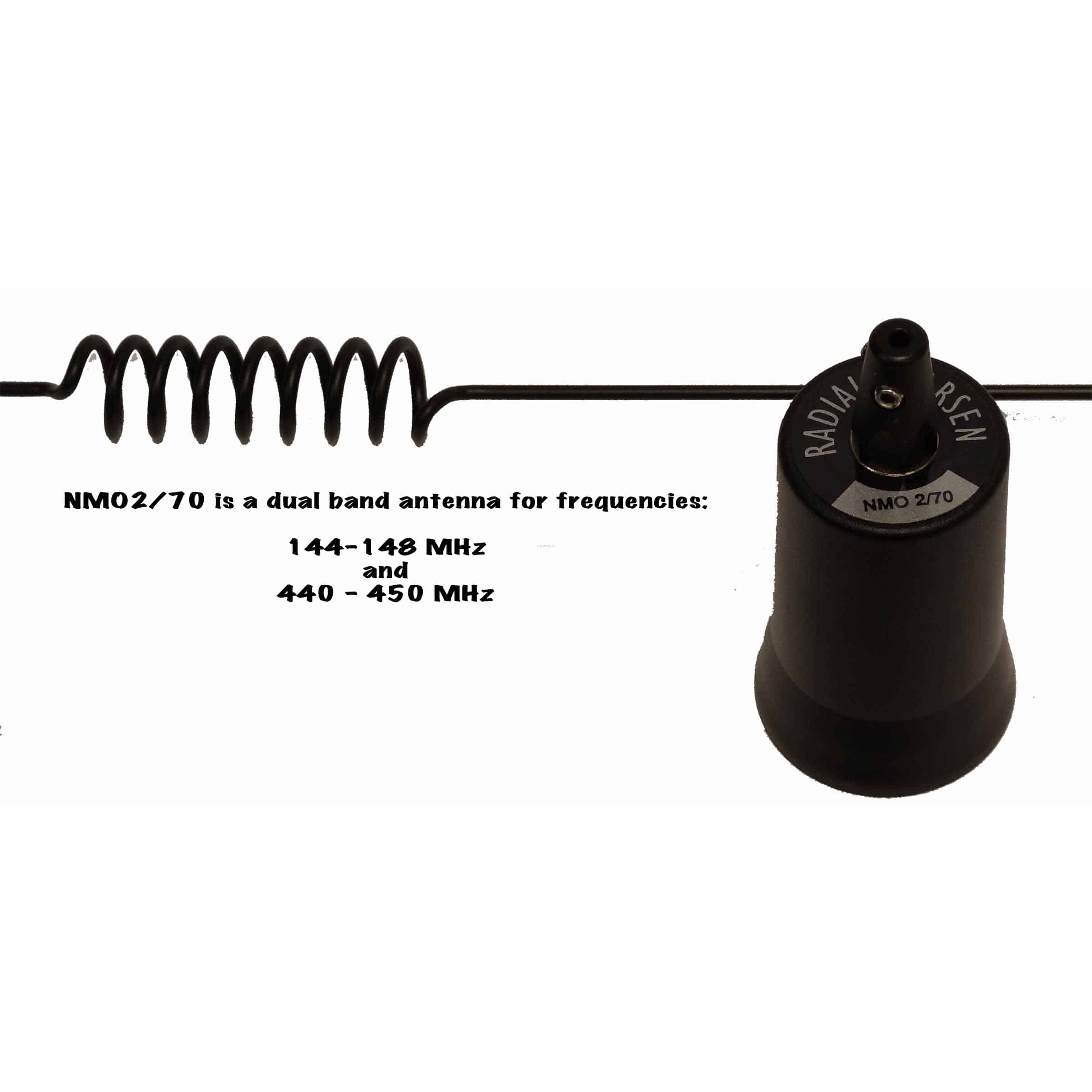 Nmo270b Larsen Black Coil Whip Antenna 144 148mhz 440 450mhz Operating At Medium Wave Frequency