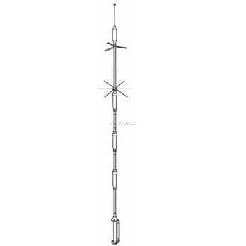 5BTV - Hustler 5 Band Base Antenna 10,15,20,40,75/80 METERS