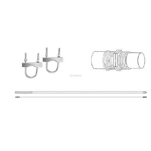 PATRIOT - ProComm 12 Foot CB or 10 Meter Base Antenna