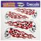04516401 - 4 Piece Racing Skulls Vinyl Decals