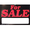 "0454035 - Duro 11-1/2"" X 8"" Plastic For Sale Sign With Blank Marker Area"