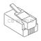 MTP8X - Marmat 8 Conductor Modular Plug